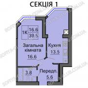 Apartment in Kiev from the Builder. Apartment in Sofia Club from