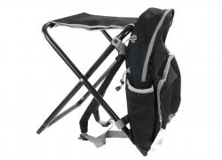 Backpack stool 2 in 1 , black-grey